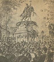 Statuia lui Mihai Viteazul la 1874