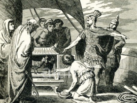 Before the Battle of Drepana in 249 B.C., one of Rome's consuls, Publius Claudius Pulcher, consulted the sacred chickens.