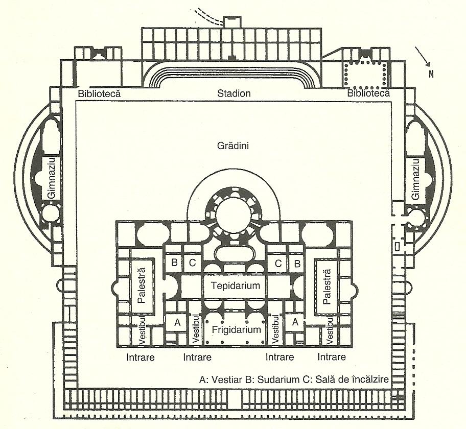 Planul termelor lui Caracalla