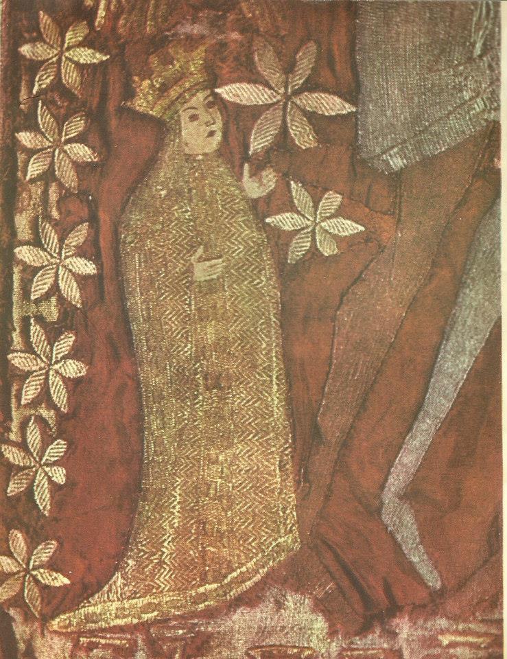 Maria Voichita - Dvera de la 1500 aflata la muzeul manastirii Putna ce prezinta scena rastignirii