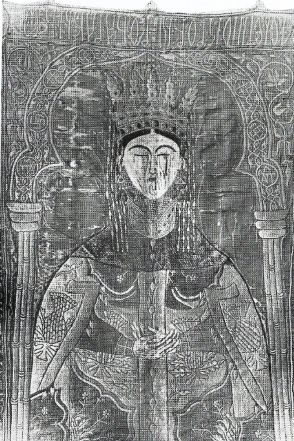 Acoperamant pentru mormantul Mariei de Mangop - muzeul manastirii Putna