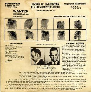 Dillinger finger prints 2