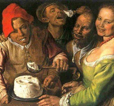 "Vincenzo-Campi ""Mancatorii de branza"" circa 1580"