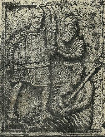 Soldat roman in lupta cu un dac si cu un german
